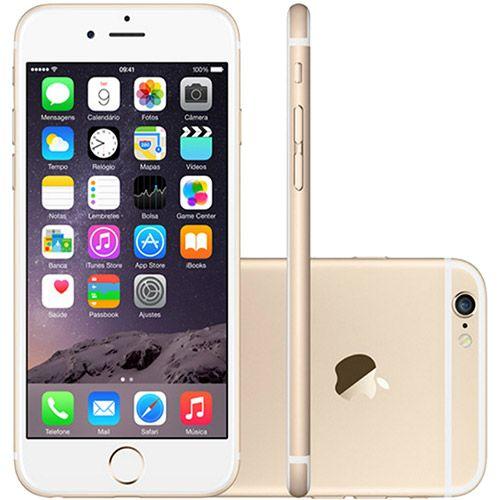 Americanas iPhone 6 128GB Dourado iOS 8 4G Wi-Fi Câmera 8MP - Apple - R$3077,19