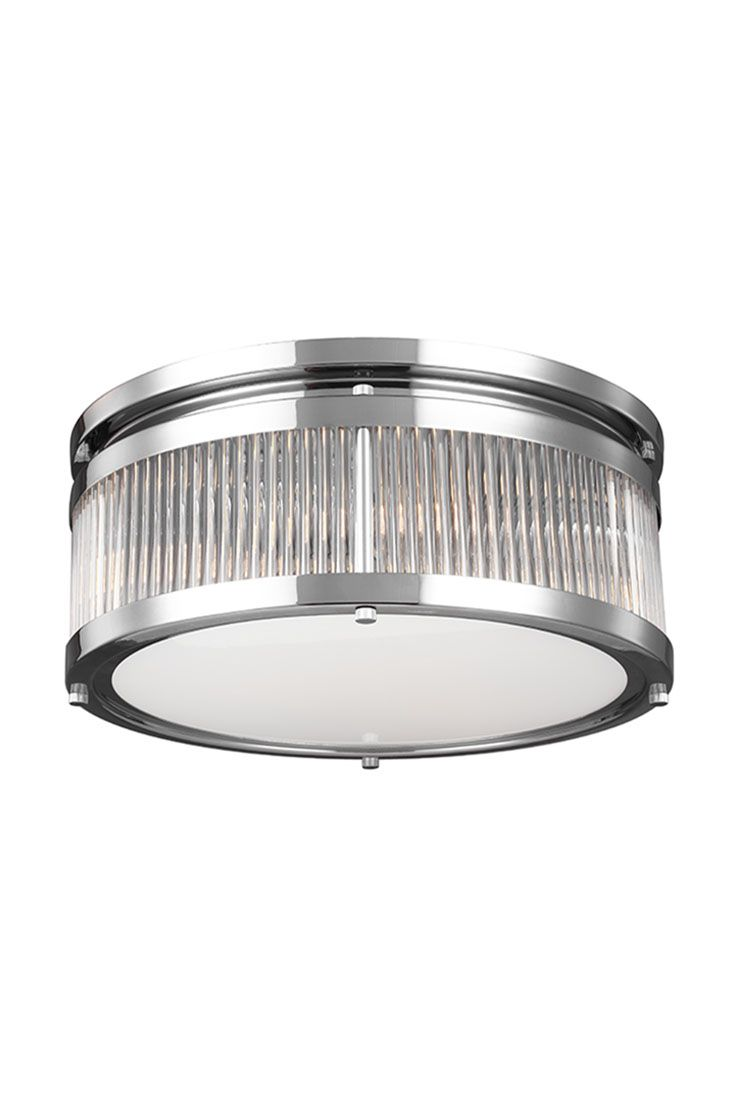 flushmount light fuses modern and industrial styles to give your home an updated look it features a