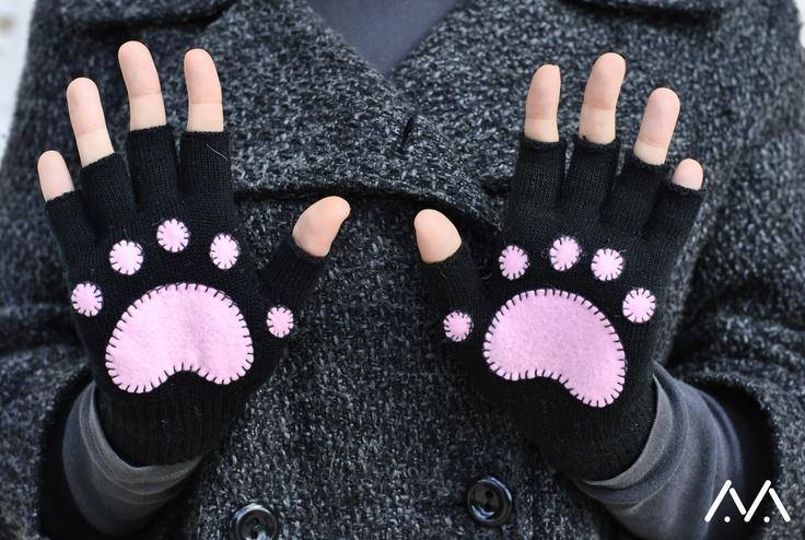 animal footprints gloves