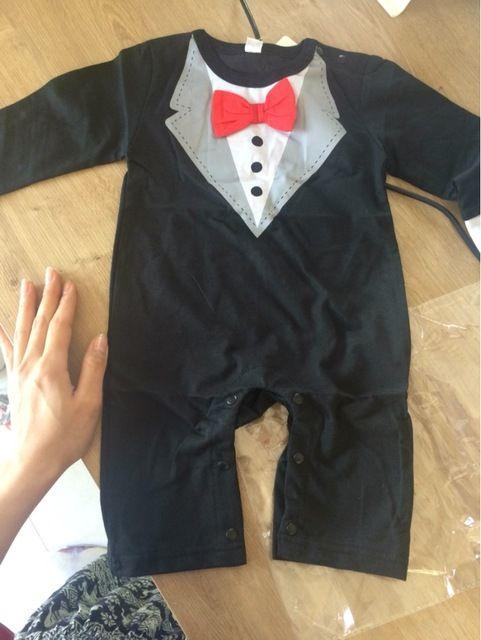 Hots nova roupa do bebê macacão de bebê meninos roupas toddlor infantil exclusivo preto cavalheiro arco one-pedaço jumpsuit Loja Online   aliexpress móvel