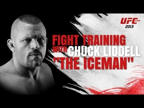 Chuck Liddell Demonstrates How To Throw His Brutal Power Strikes