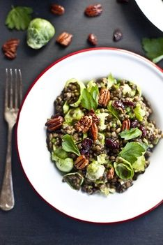 Lentil & Brussel Sprout Salad with Creamy Chia Dressing Recipe | Recipes | PRANA