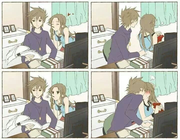 Pocky game fail ish anime pinterest pocky game and game - Cute anime couple pictures ...