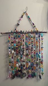 Handcrafted Recycled Boho Beaded Hippie Gypsy Unique Windchime $29 FREE SHIPPING!