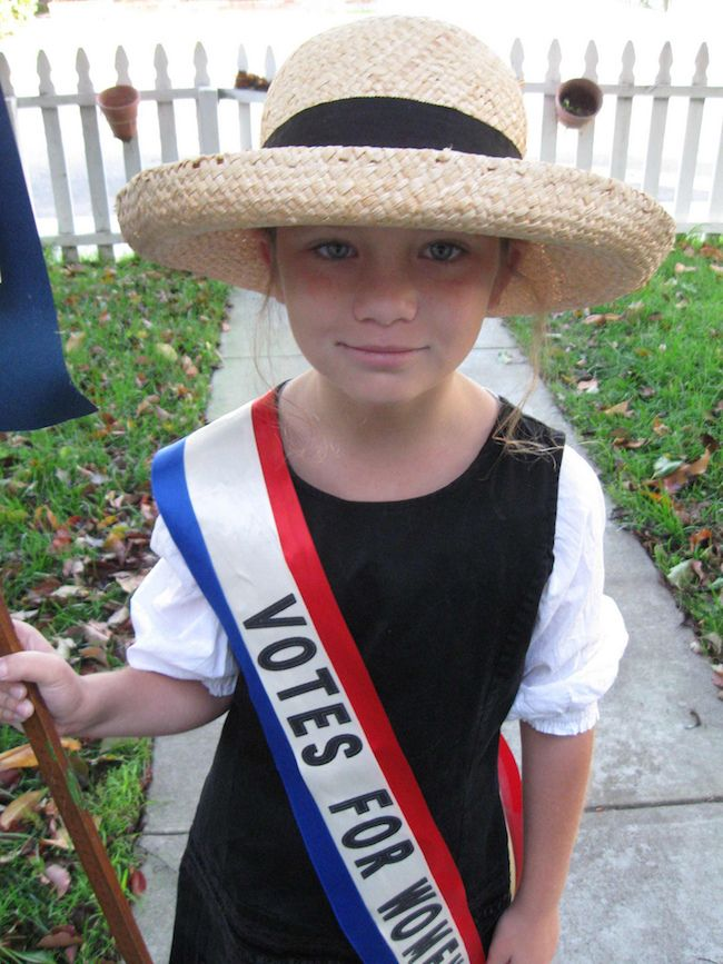 Strong girl Halloween costumes: A suffragette, via Flickr