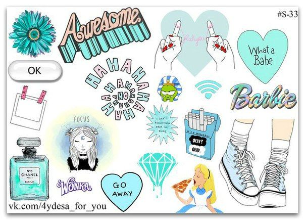 Awesome tumblr blue color sticker sheet| Planner diary Stickers | John Green Okay? Okay. Cigarette pack | Kawaii cute | Barbie |  CHANEL 5 | by topstickerdesigns on Etsy