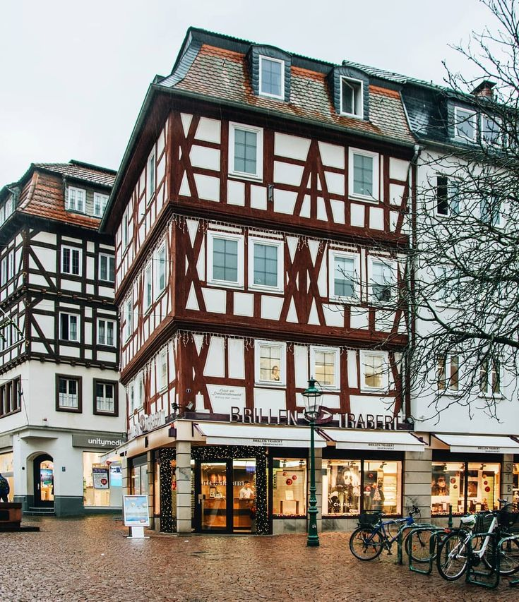 Fulda, Hessen    almost snowing (and every house has an open window)  #entdecke_hessen #visitgermany