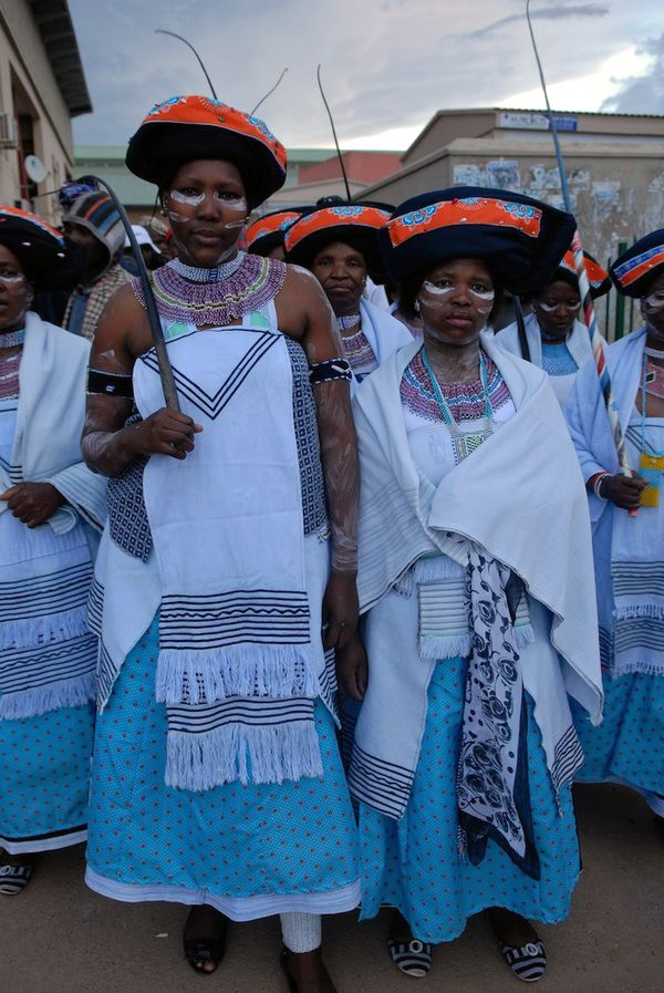 South Africa | Xhosa woman. Participants at a traditional dance festival. Mount Frere, 2011 | ©Anton Crone