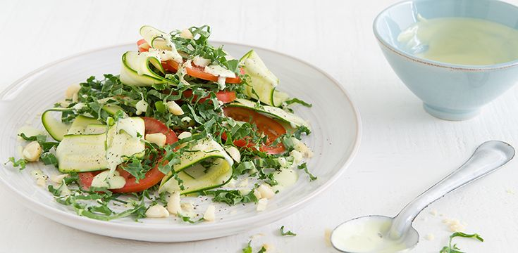 Free Recipe: Kale, Macadamia and Tomato Salad with Avocado Dressing