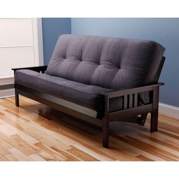 $290. Somette Beli Mont Multi-flex Espresso Full-size Wood Futon Frame Furniture Home #Somette