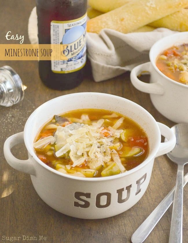 Easy Minestrone Soup Recipe Gardens Copy Cat Recipe And Vegetables