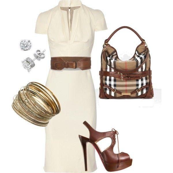 Fall Outfit for Work or Dressy Daytime fashion dress handbag belt fall fashion dressy accessories daytime fall outfit professional outfit