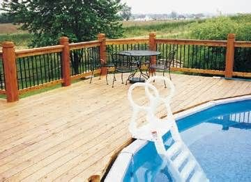 23 best images about above ground pool ideas on pinterest for Above ground pool decks with lattice