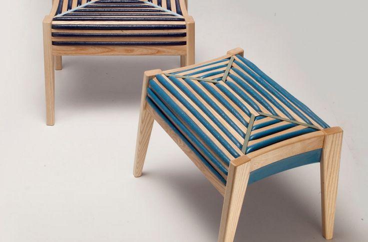 Деревянный табурет с секретом На первый взгляд кажется, что этот стул обтянут тканью. Но если присмотреться, то становится понятным, что на самом деле это не так. http://goodroom.com.ua/mag/75-control-derevyannyj-taburet-s-sekretom/ #Design #Interior #Furniture #Chair