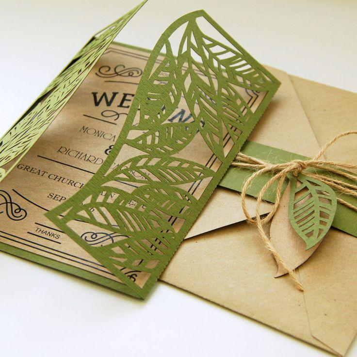 Bruid & bruidegom laat blad rustieke botanic eco door EasyCutPrintPD