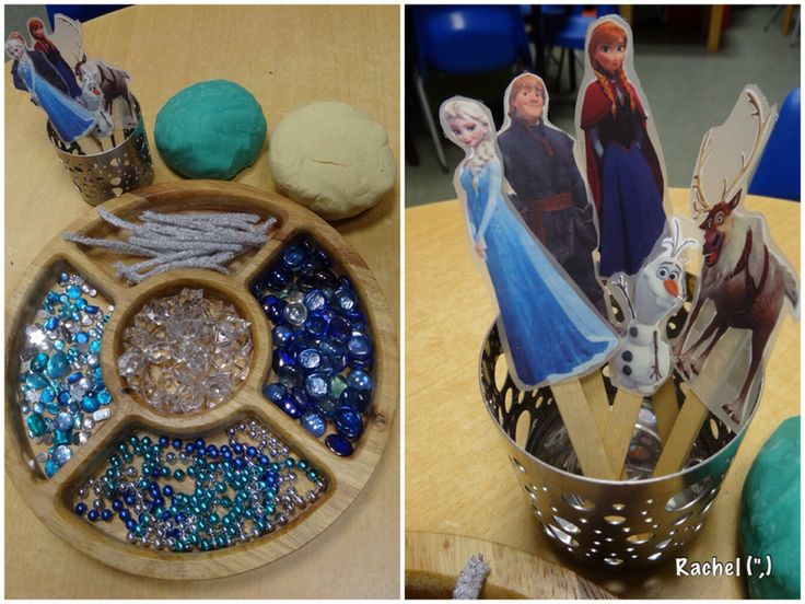 "Frozen dough enhancements using puppets from Red Ted Art - from Rachel ("",)"