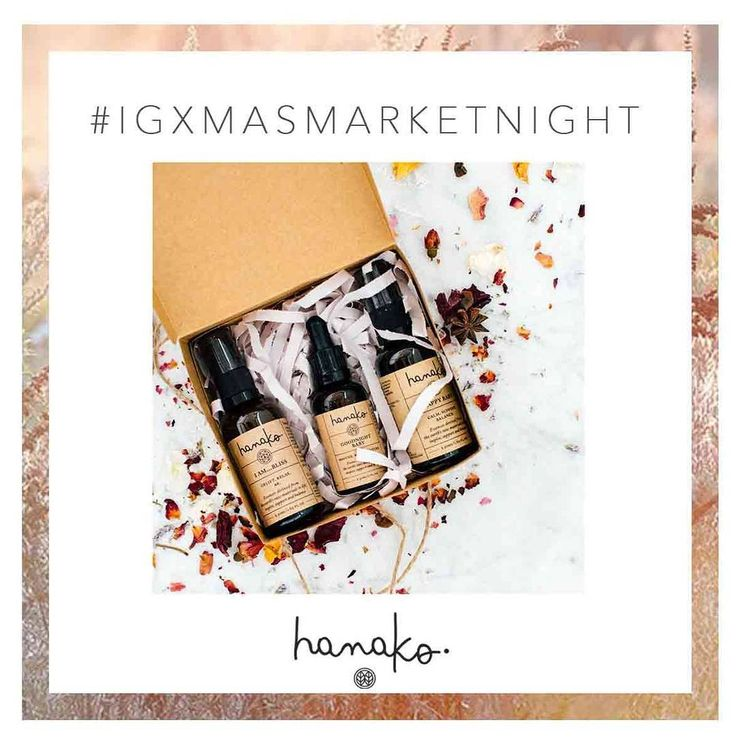 #IGXMASMARKETNIGHT: DEAL THREE 🌲  Free shipping on all orders over $40 & FREE gift boxing with every order you place from now until Christmas! 🎁  Gift the healing properties of nature or spoil yourself with a nourishing range of vibrational essences, scents and blends helping you create a daily ritual of self love, care and kindness. 🌿  Simply notify us at checkout in the comments if you wish for your items to be beautifully boxed 💝 // http://www.hanakotherapies.com/