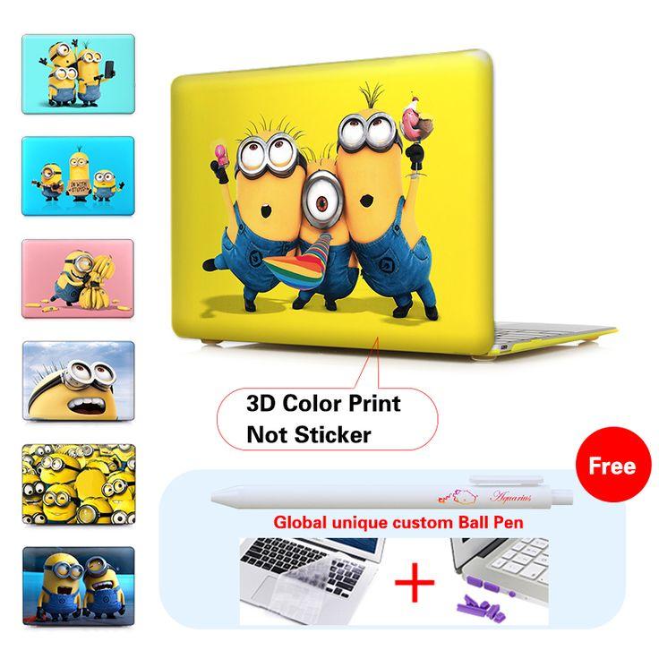 """Cheap Minion Despicable Me 2 de Plástico Duro Caja Del Ordenador Portátil Para Mac Book Pro 13 Cubierta 13.3 13 """"pulgadas cubierta de la caja para el ordenador portátil apple macbook pro, Compro Calidad Fundas para portátiles directamente de los surtidores de China:      es nuestra gran ventaja!!!  --- el uso detecnología de impresión de inyección de tinta 3D a Todo Color, patrón impr"""