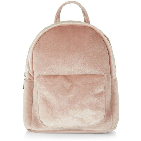 New Look Pink Velvet Mini Backpack ($25) ❤ liked on Polyvore featuring bags, backpacks, single strap backpack, velvet backpack, one strap backpack, backpack bags and mini bag