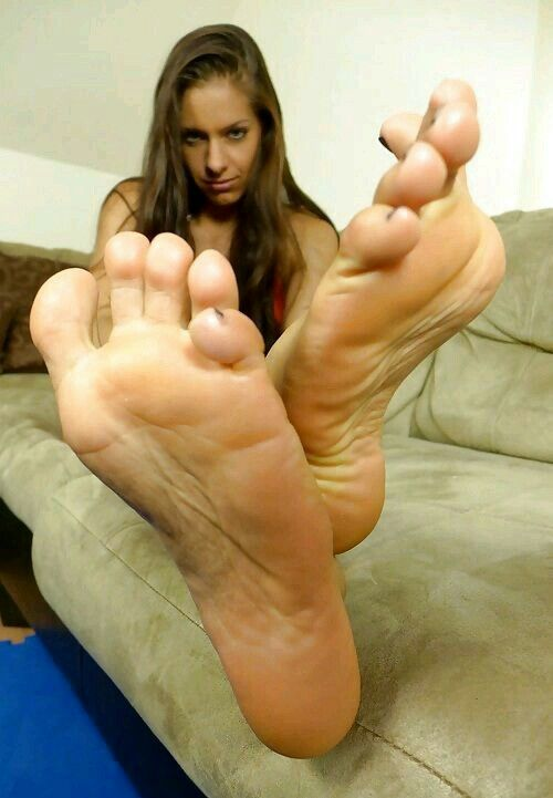 Submissive female soles