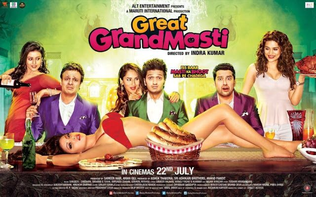 The new official trailer Great Grand Masti. It is the third installment of 'Masti' and 'Grand Masti'. The film features Vivek Oberoi, Ritesh Deshmukh, Aftab