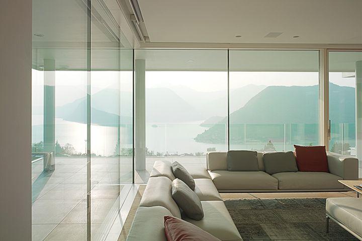 Wooden-aluminium windows and doors with minimal frame Skyline System