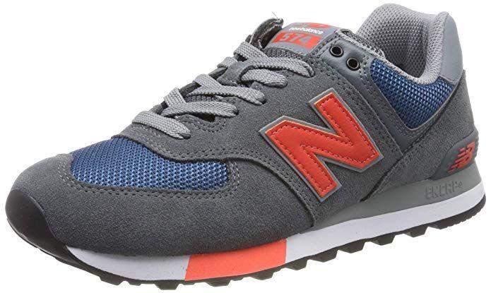New Balance 574v2 Sneakers Herren Grau Blau Orange New Balance Balance Herrin