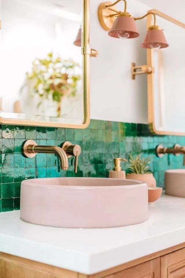 10+ Cute Emerald Green Bathroom Tile Designs Ideas in 2020 ...