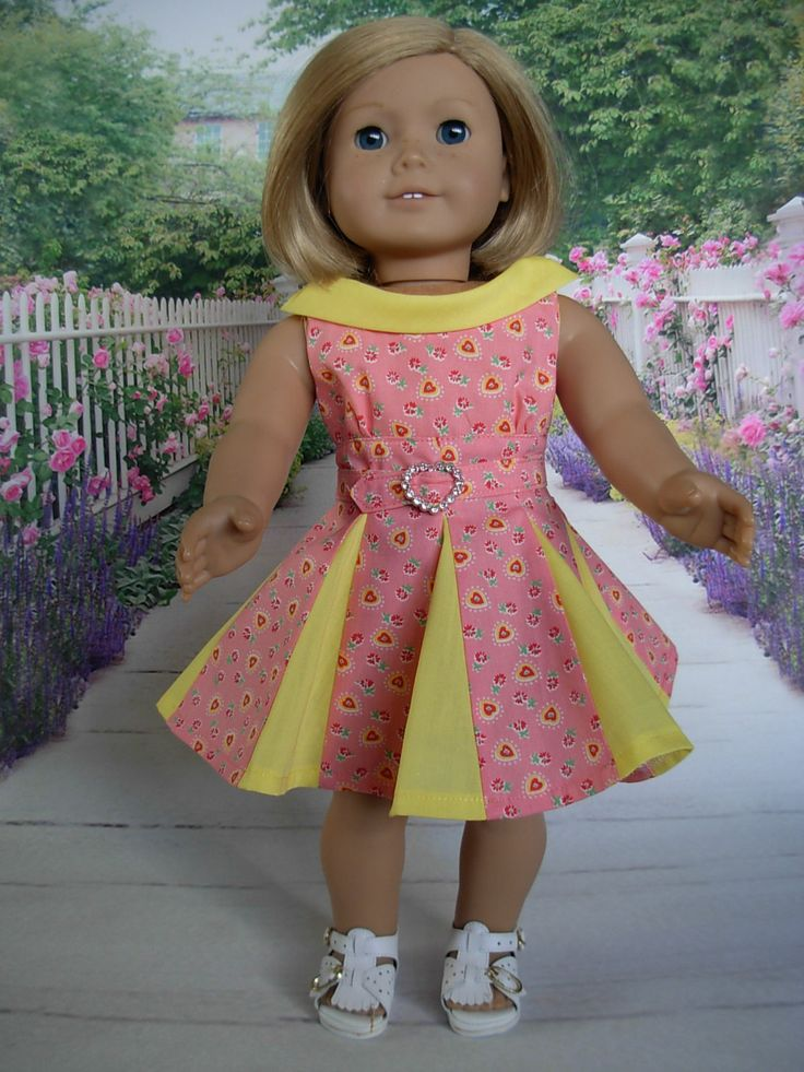 Retro 50s Style Dress fits American Girl Doll and 18 inch dolls by WeeWhimzyWardrobe on Etsy