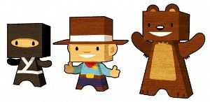 """Crafts & Lesson Plans to go with """"Ninja Cowboy Bear"""" by David Bruins - awesome friendship book, especially for Primary Boys (girls love it too.)"""