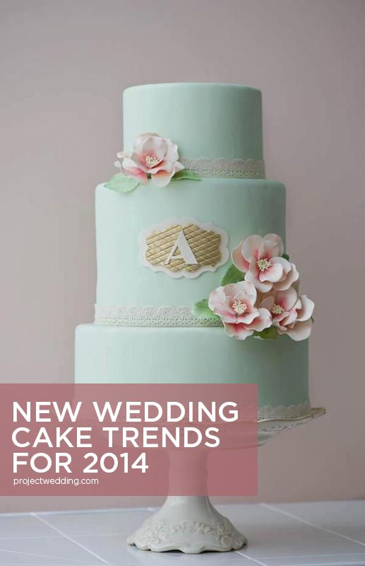 Wedding Cakes Trends for 2014—so many cool ideas in this list! {via Project Wedding}