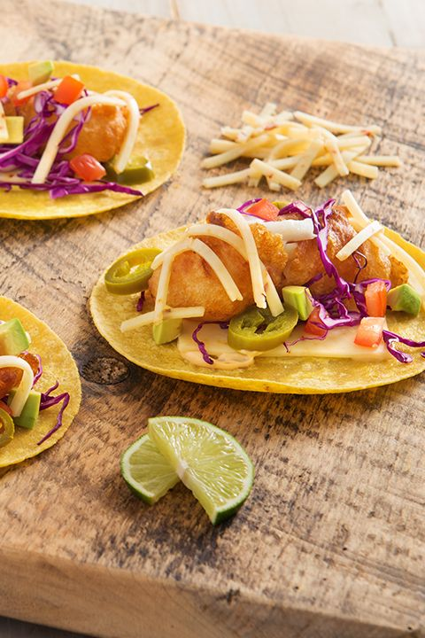 INGREDIENTS BY SAPUTO | Beer and fish go great together! They're just perfect in this fish taco recipe idea, made with Armstrong Jalapeño Monterey Jack! Make them for a delicious Mexican-inspired meal that your family will adore!