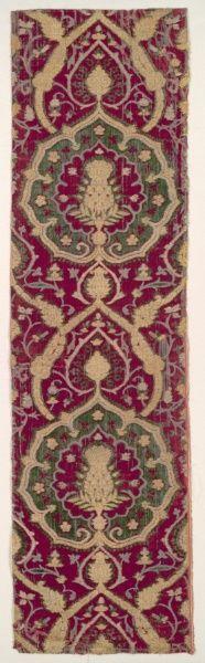Ottoman Brocaded Velvet.  1500.  (Cleveland Museum of Art)