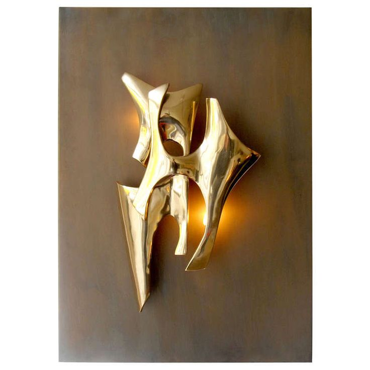 Signed Wall Light by Fred Brouard | From a unique collection of antique and modern wall lights and sconces at http://www.1stdibs.com/furniture/lighting/sconces-wall-lights/