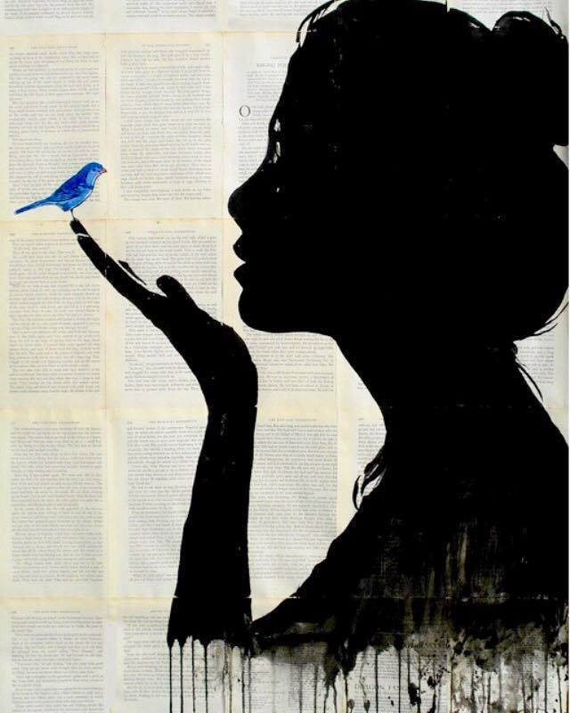 Artist: Louie Jover ~ love bluebirds