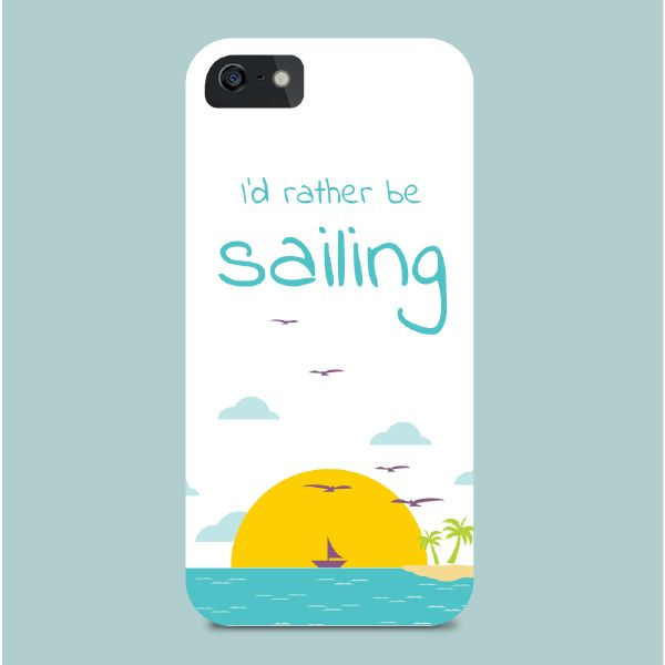 Smart Phone Cover - I'd rather be sailing | Nautination gifts for sailors…