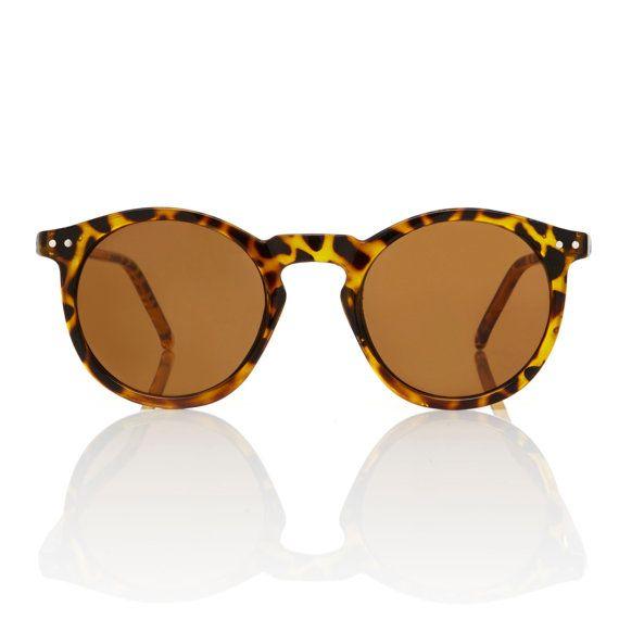 Mens Tortoise ronde Frame lunettes de soleil o ' Malley / / Gatsby P3