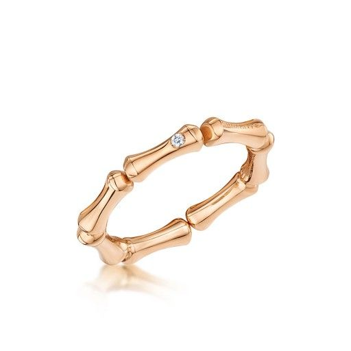 CHIMENTO Bamboo 18ct Rose Gold 0.01ct Diamond Ring
