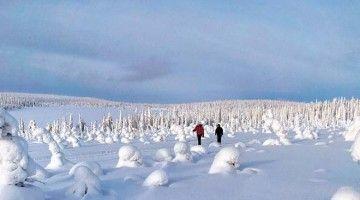 Com o Pai Natal em Rovaniemi, Lapónia
