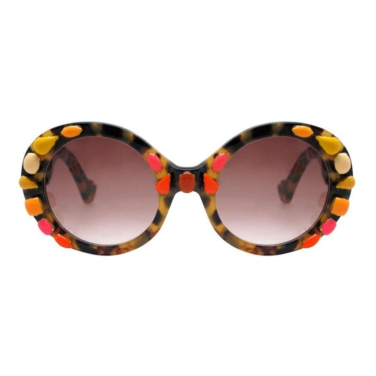 Cat Eye Glasses With Rhinestones Embellishment
