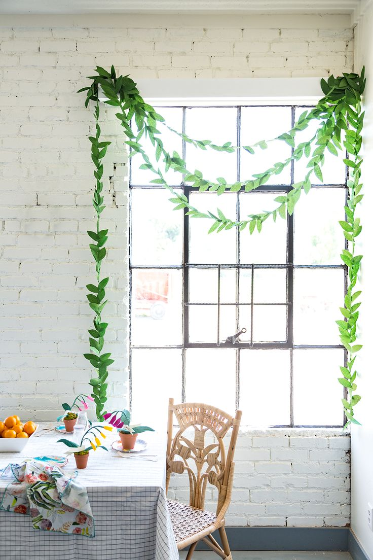 Get crafty with this DIY paper leaf garland. With only a few materials needed, this garland can be used all year. Click-in for the tutorial from The House That Lars Built.