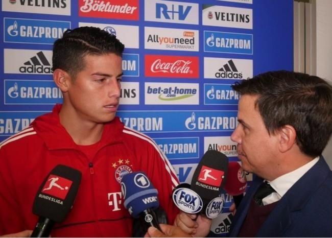 Colombia está con el Bayern: James Rodríguez Tras el compromiso con el Schalke 04, James Rodríguez habló con el periodista Daray Ezequiel para hablar del gol, su estado físico y el apoyo de los colombianos en esta nueva etapa deportiva.