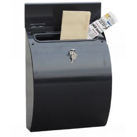 The Safewell NR-Series Top-Loading Black 5kg Vertical Mail Box is a key-locking mail box with top loading access.