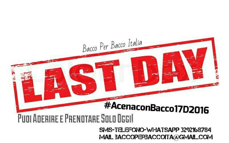 Ultimo Giorno per Aderire e Prenotare  #AcenaconBacco17D2016 Isola-San Miniato PI