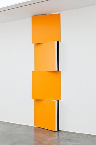 artnet Galleries: Photo-souvenir : Voir Double - Jaune d'Or - RAL 1033, travail situé by Daniel Buren from Xavier Hufkens