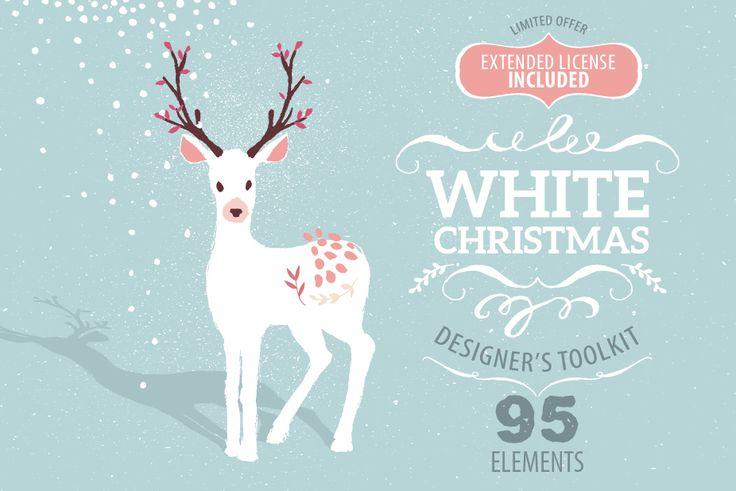 White Christmas designer toolkit by Lisa Glanz on Creative Market