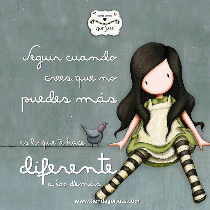 Seguir cuando crees que no puedes más es lo que te hace diferente a los demás.  #gorjuss #santoro #frasedeldia #felizlunes