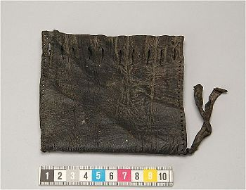 Leather pouch, Kalmar, Sweden. Medieval