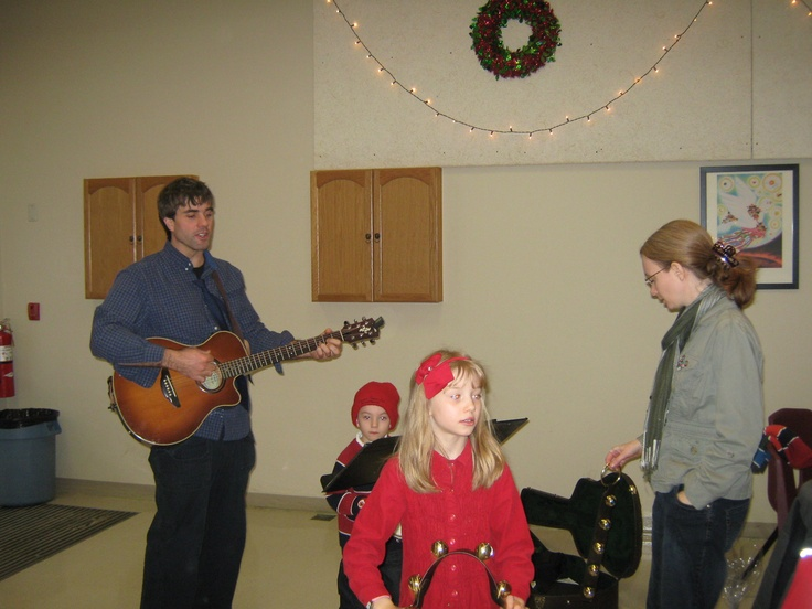Luke and his family performing another number