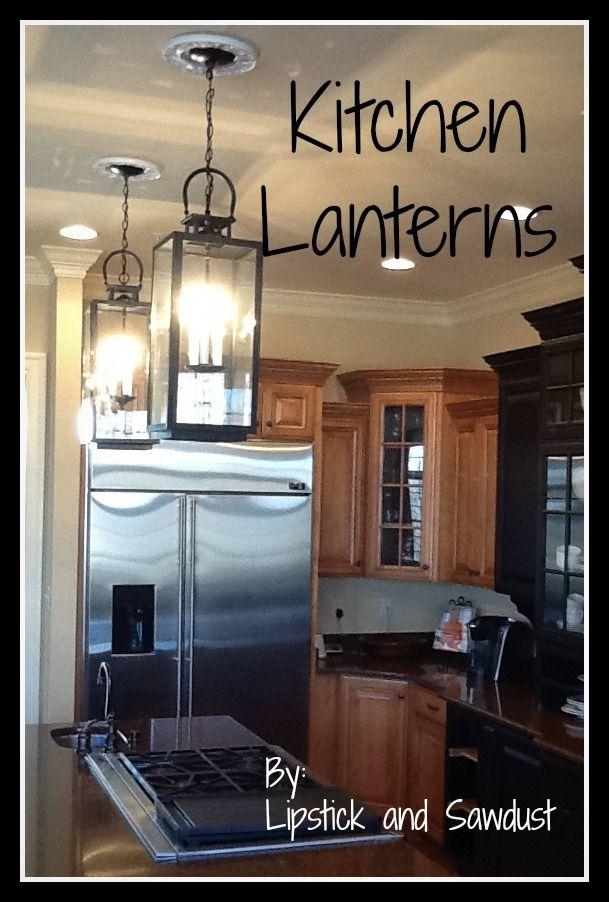 Converting lanterns to hanging light fixtures : Lipstick and Sawdust: DIY Lantern Tutorial